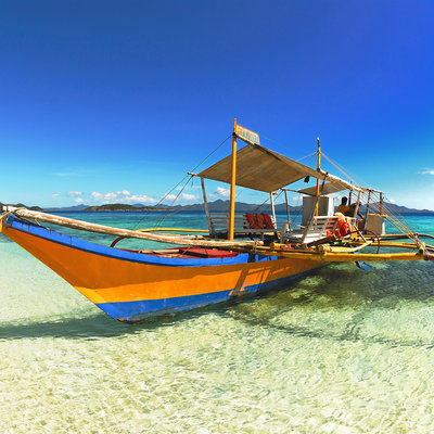 Traditional fishing boat in the Philippines
