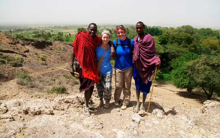 With the Maasai guides on the Village Healthcare Experience